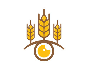 Wheat View Logo Icon Design Element