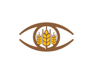 Eye Wheat Logo Icon Design Element
