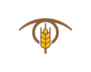 Wheat Eye Logo Icon Design Element