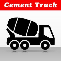 cement truck vector icon design