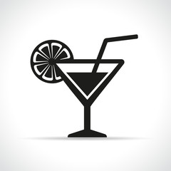 cocktail glass on white background