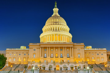 Washington, USA, United States Capitol, often called the Capitol Building.