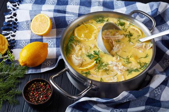 avgolemono - delicious creamy greek chicken soup