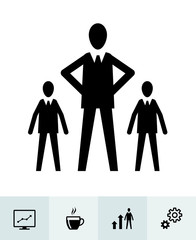 Business icons with White Background