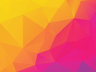 abstract yellow purple polygonal vector background
