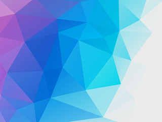 abstract blue purple low poly vector background