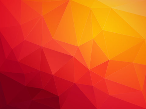 abstract red orange polygonal vector background