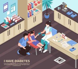Diabetes Hospital Isometric Composition