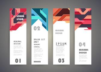 Vector vertical banner design