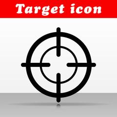 black target vector icon design