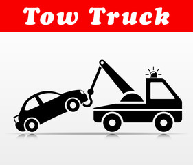 tow truck vector icon design