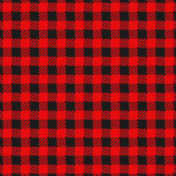 Checkered flannel plaid seamless pattern