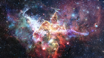 Mystic Mountain in the Carina Nebula. Elements of this image furnished by NASA.