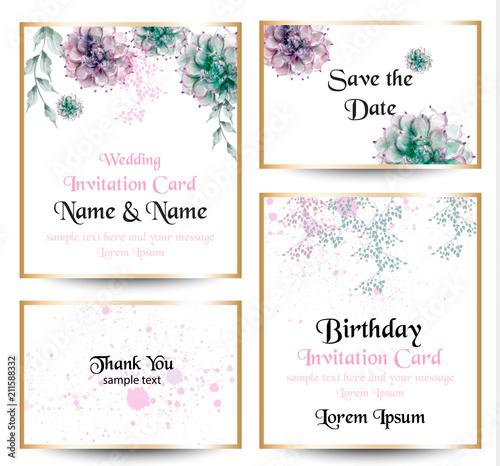 Watercolor flowers blossom card set vintage greeting cards wedding watercolor flowers blossom card set vintage greeting cards wedding invitation thank you postcard m4hsunfo