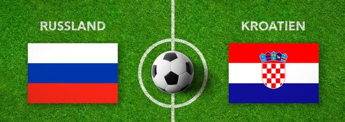 Fußball - Russland gegen Kroatien