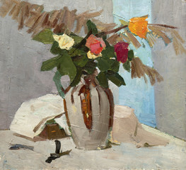 oil painting, still life