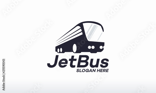 Jet Bus Logo Designs Concept Vector Transport Logo Designs
