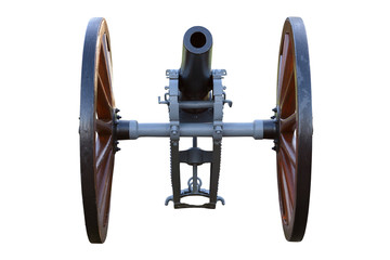 vintage cannon isolated on white background