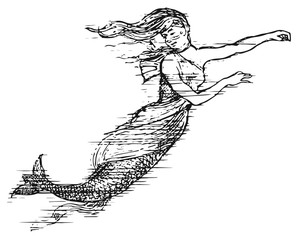 Mermaid #vector #isolated - Meerjungfrau Nixe