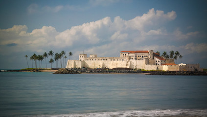 Fotobehang Kasteel Exterior view to Elmina castle and fortress, Ghana