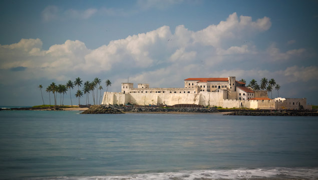 Exterior view to Elmina castle and fortress, Ghana