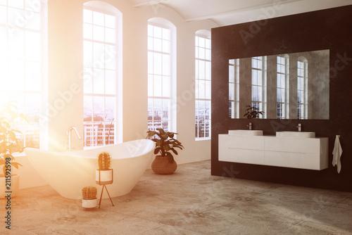 Uberlegen Modernes Badezimmer Mit Badewanne In Loft
