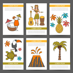 Vector hand drawn Hawaii background