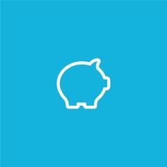 Outline piggy bank Icon isolated on grey background. Modern simple flat symbol for web site design, logo, app, UI. Editable stroke. Vector illustration. Eps10