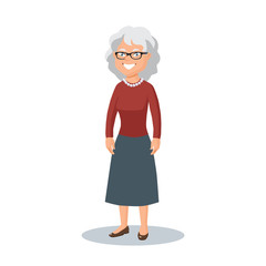 Old lady,elderly woman, grandmother with glasses
