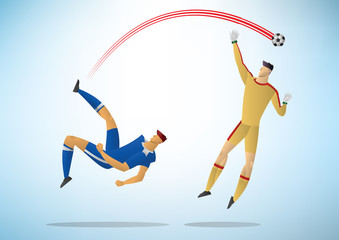 Illustration of soccer players 09