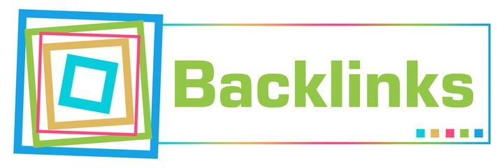 Backlinks Colorful Borders Square Horizontal