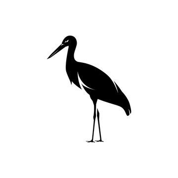 vector stork silhouette