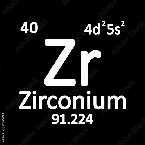 Periodic table element zirconium icon stock image and royalty free periodic table element zirconium icon urtaz Gallery