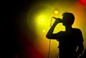 Cantante silhouette