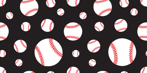 baseball Seamless pattern vector tennis ball tile background repeat wallpaper scarf isolated graphic black
