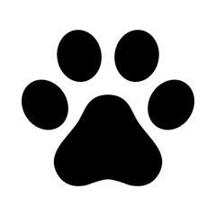 Dog paw vector icon footprint logo symbol graphic illustration french bulldog cat cartoon