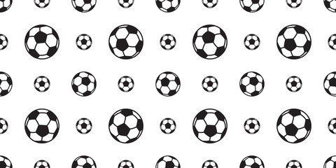 soccer ball seamless pattern football vector tile background scarf isolated sport repeat wallpaper