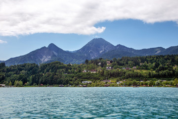 Faaker See with Mittagskogel, Austria