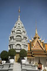 CAMBODIA PHNOM PENH ROYAL PALACE NORODOM STUPA