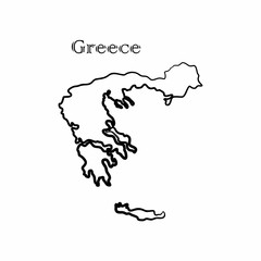 the Greece map
