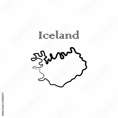 the iceland map\