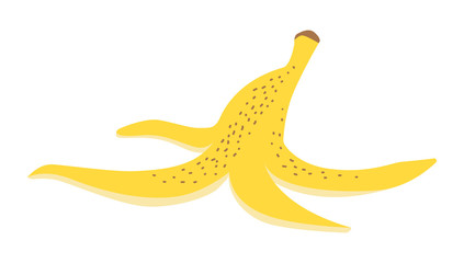 Vector illustration of a banana peel