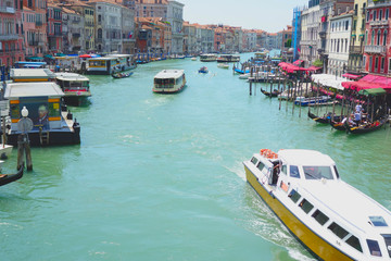 Grand Canal, Venice, Italy- viewed from the Railto Bridge (Ponte di Rialto)