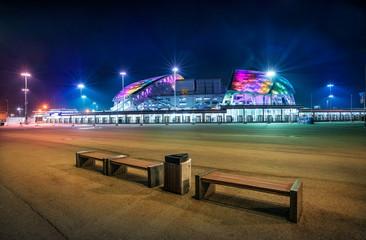 Стадион Фишт ночью в Сочи Stadium Fisht  in Sochi in the night