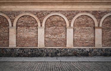 Fototapete - Old empty street background