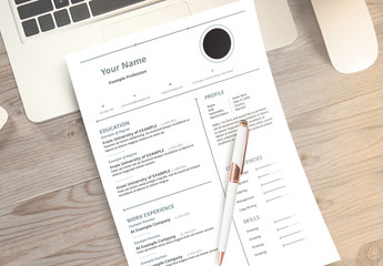 Resume Layout Set with Grayish-Blue Accents