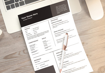 Resume Layout Set with Dark Grey Accents