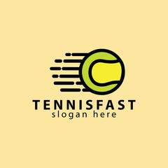 Fast Tennis ball Logo Design
