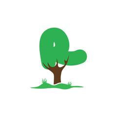 R Letter tree green logo
