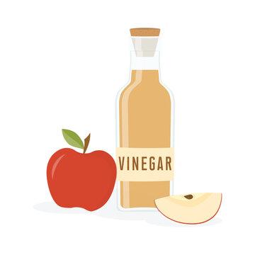 vinegar bottle isolated